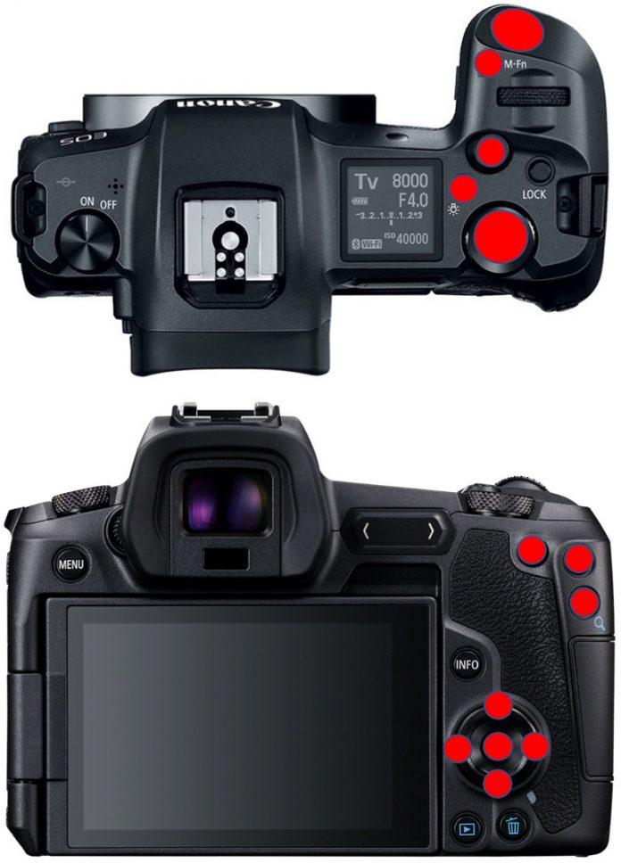 Canon EOS R programlanabilir tuşlar
