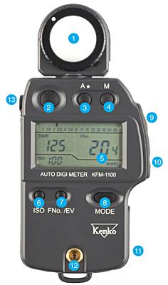 Kenko KFM-1100 düğmeler
