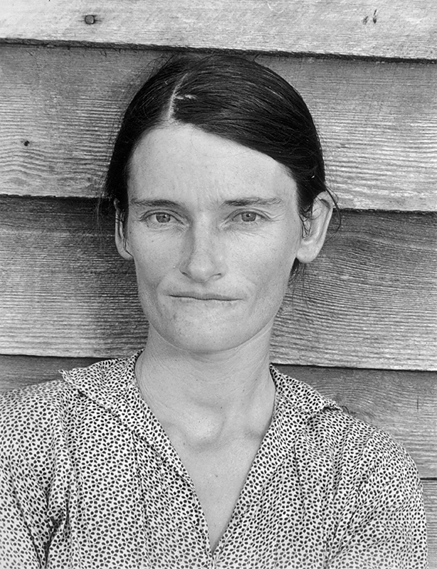 Walker Evans, Evans's photo of then 27 years old Allie Mae Burroughs, Photographed in 1936, A.symbol of the Great Depression