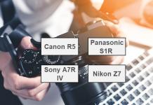 Yüksek megapikselli aynasız kameralar