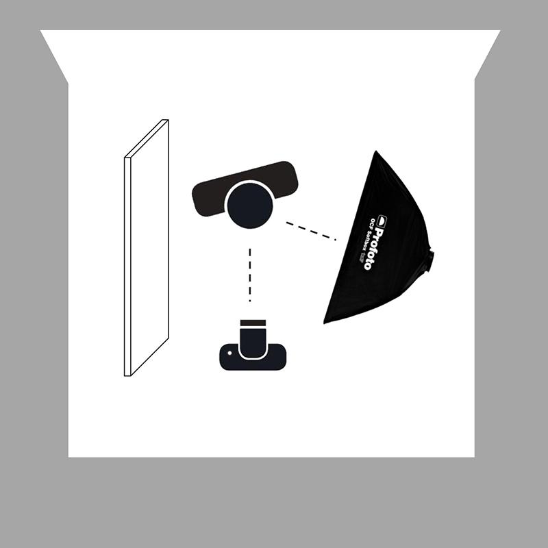 3. Dikdörtgen bir softbox kullanarak biraz sert bir geçiş oluşturma