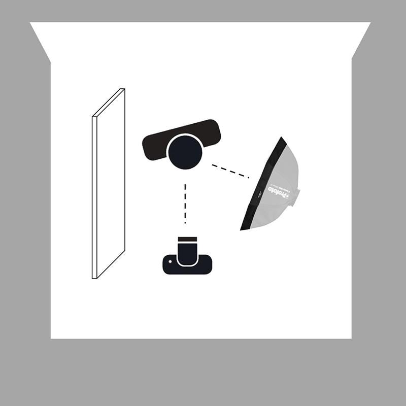 4. Beuty Dish kullanarak gri bir arka planda yoğun ve dramatik bir geçiş oluşturma