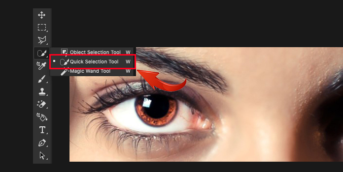 Photoshop'da Quick Selection Tools