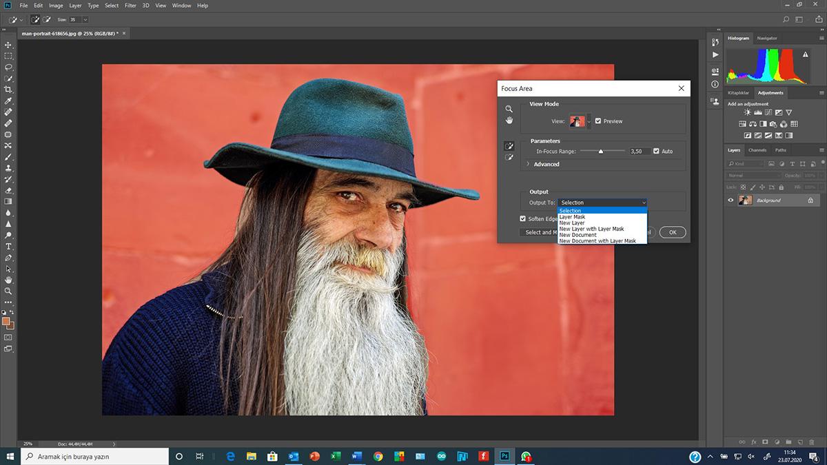 Photoshop'da Select & Mask (Seçim ve Maske)