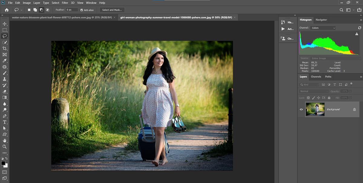 Photoshop'da İki Fotoğrafı Birleştirmek, Photo-Combain