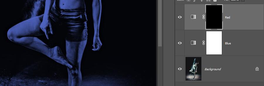 Photoshop'da iki renkli ışık efekti vermek- Dual Lighting Effect