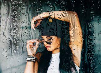Yağmur damlaları ile bir pencerenin arkasında… / Wet Glass Effect