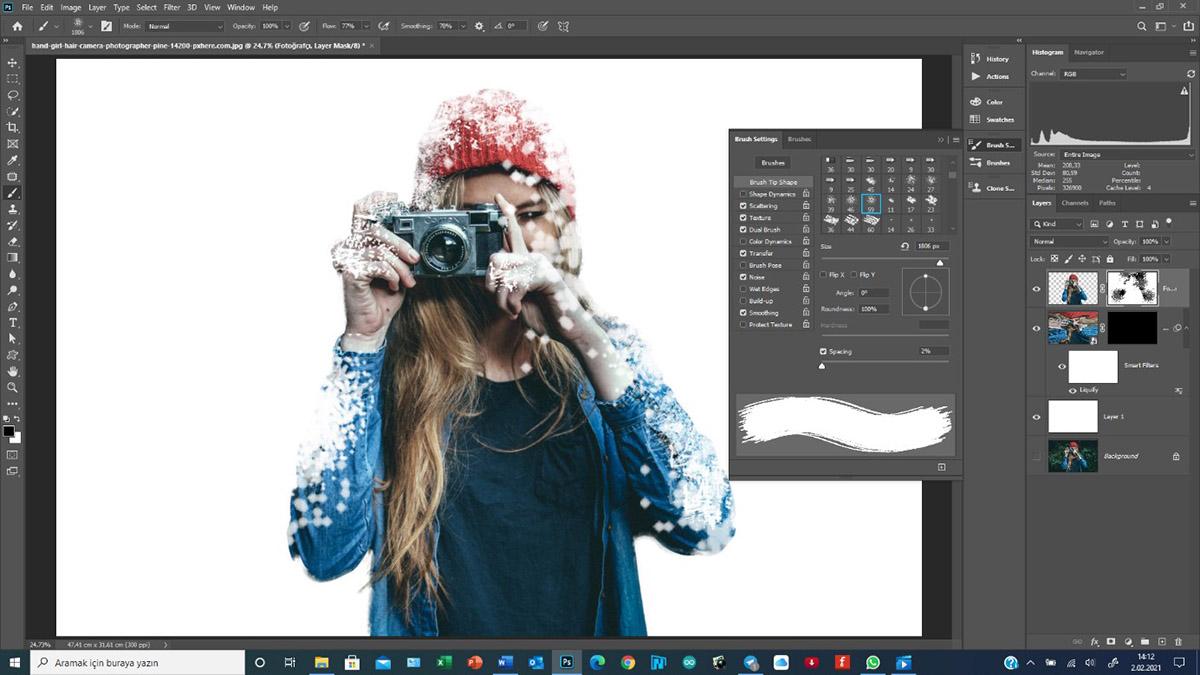 Photoshop'da Buz-Kar Efekti – Chilling Effect