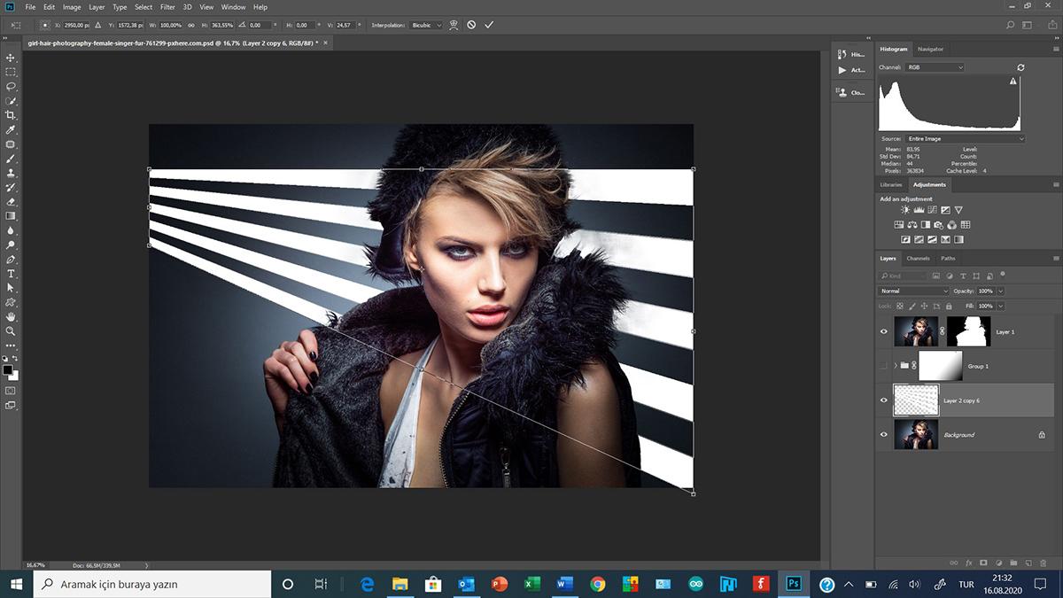 Photoshop'da Arka Planda Işık Efekti - Background Light Effects