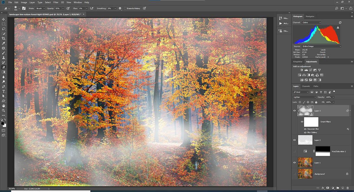 Photoshop'da fotoğraflara sis eklemek