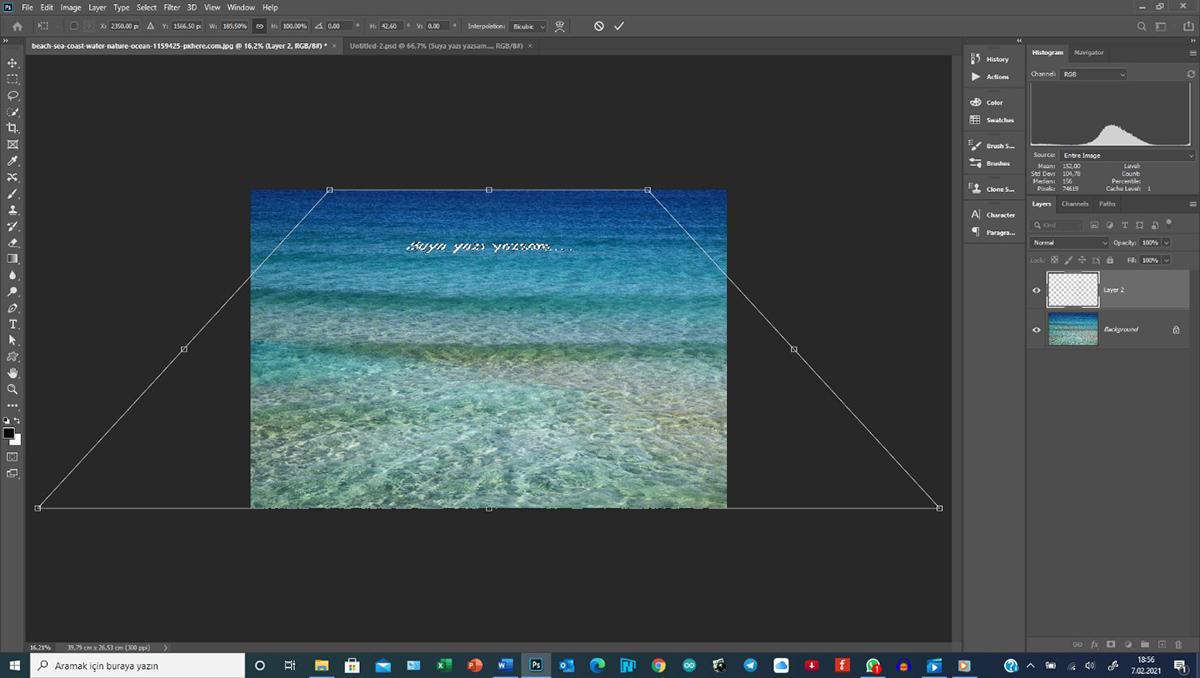 Photoshop'da herhangi bir yüzey üzerine herhangi bir şey yerleştirmek