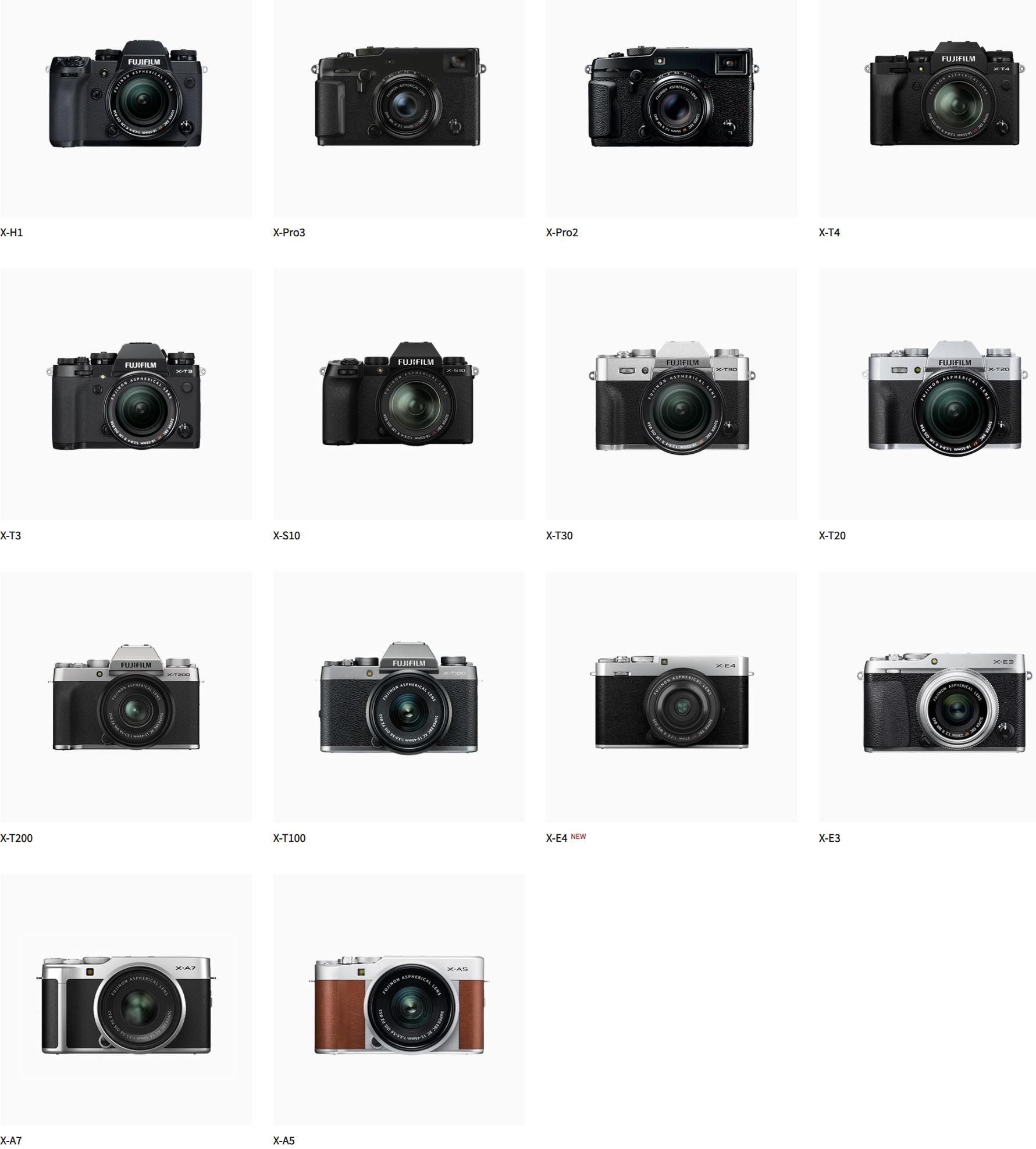 Fujifilm X-T200 ve X-E3 karşılaştırması